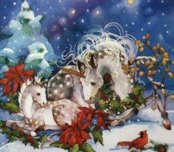 Единороги At Рождество