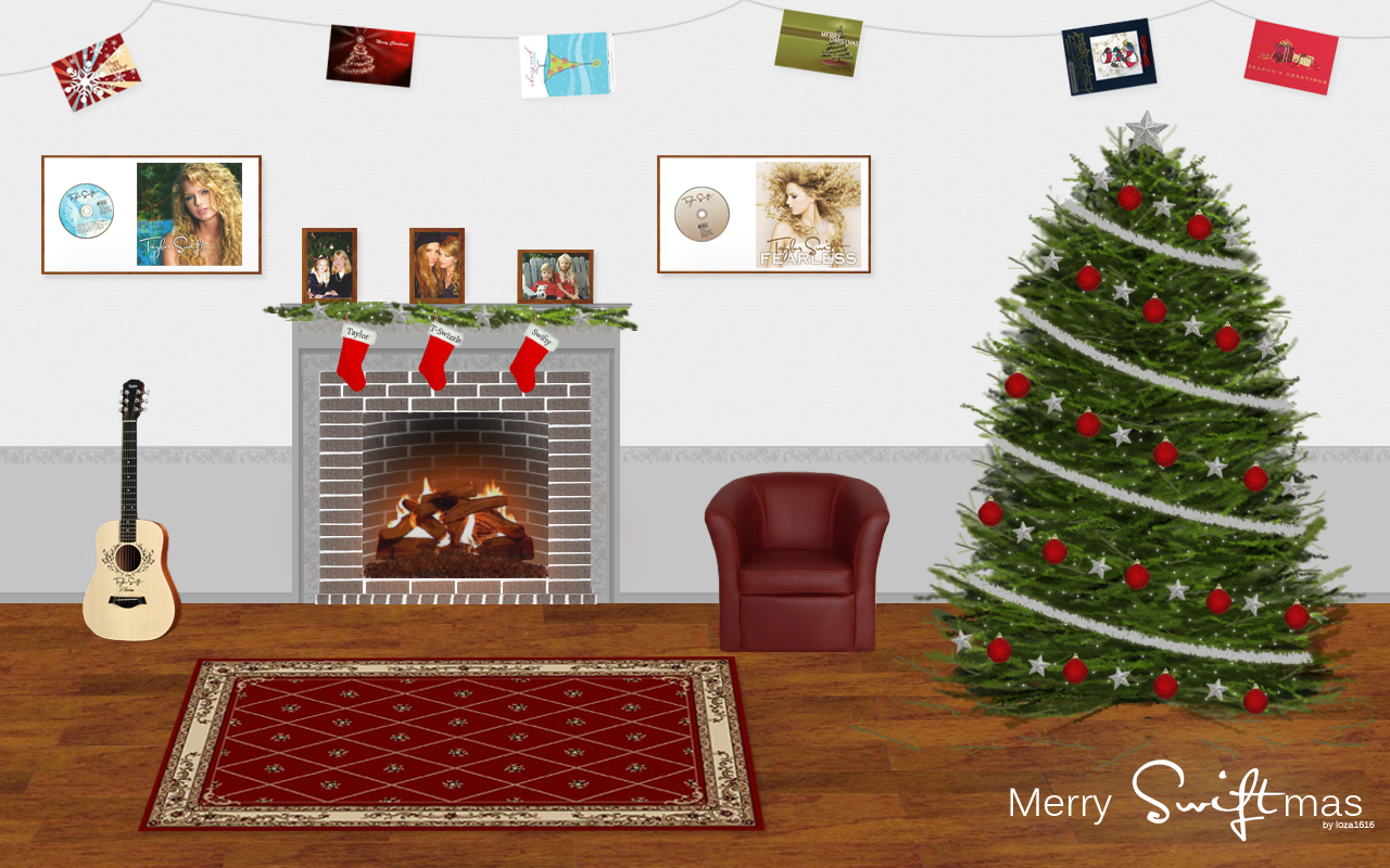 Krismas kertas dinding (Taylor pantas, swift style)