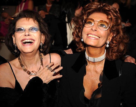 Claudia Cardinale and Sophia Loren
