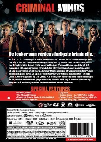 Criminal Minds Season 2 DVD Art Back