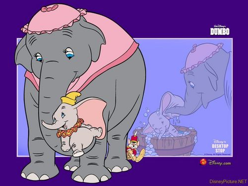 Classic Disney wallpaper containing anime titled Dumbo Wallpaper