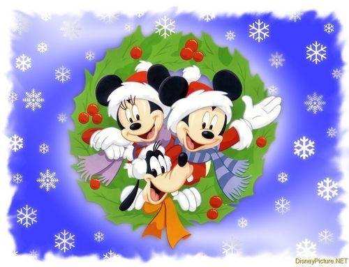 Mickey And 프렌즈 At 크리스마스