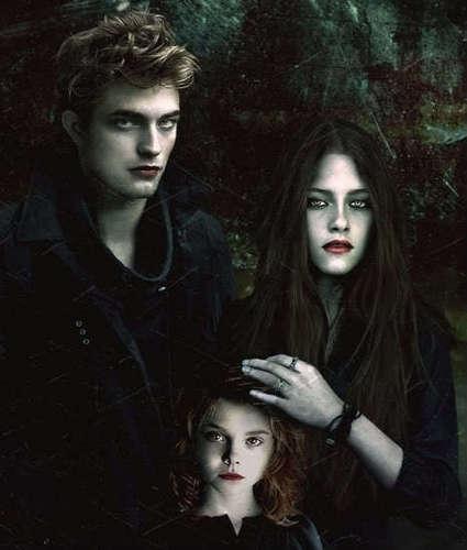 Edward,vampire bella and nessie