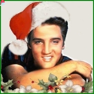 Elvis Presley wallpaper probably containing a bouquet and a portrait called Elvis At Christmas