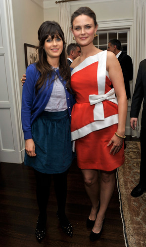 Emily & Zooey at the benefit