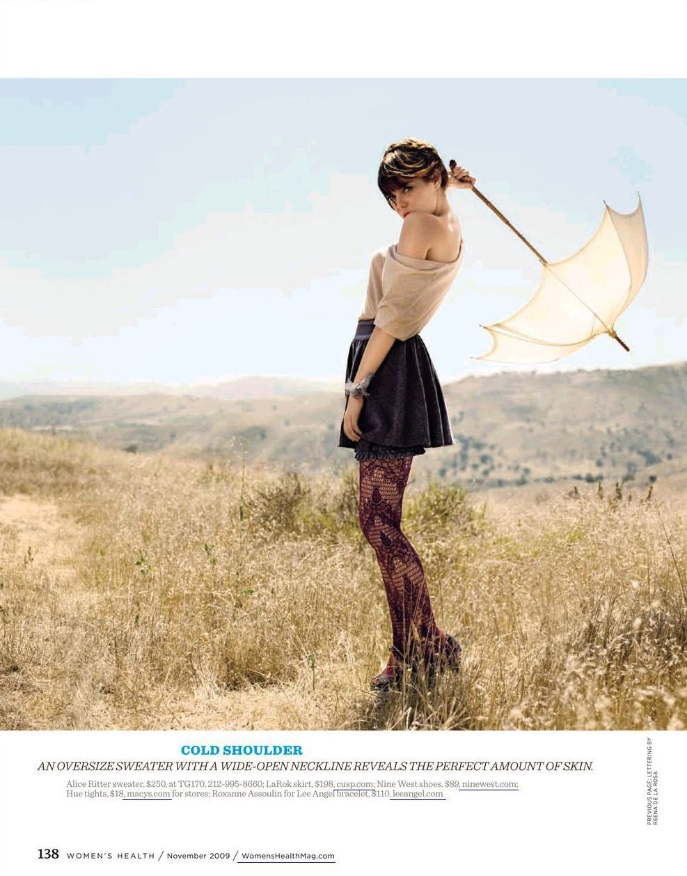 "Emma in ""Women's Health Magazine"" (November 2009)"