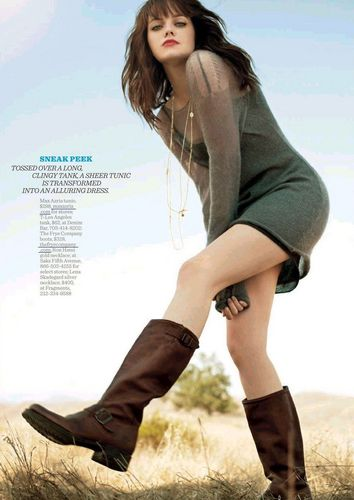 "emma stone fondo de pantalla possibly containing an outerwear and a portrait entitled Emma in ""Women's Health Magazine"" (November 2009)"