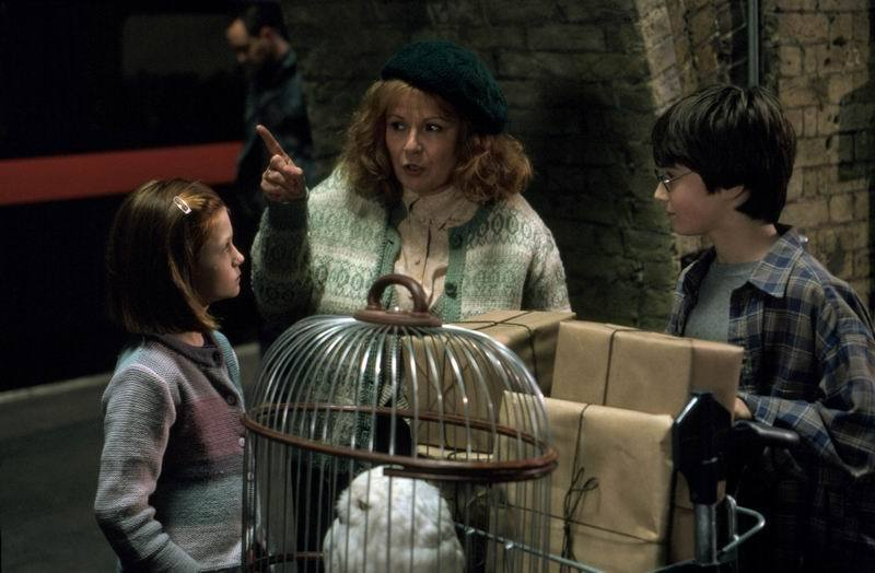 Ginny,Harry and Molly Weasley