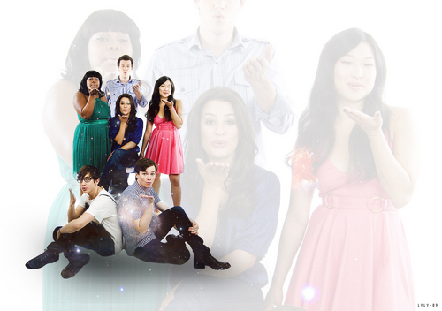 glee cast (the original 6 glee club members)