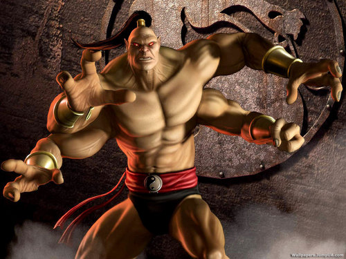 Mortal Kombat kertas dinding possibly with a hunk titled Goro