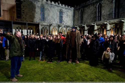 Harry Potter and the Half Blood Prince (2008) > On Set