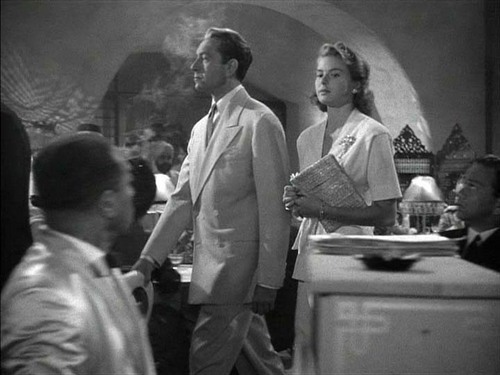 Casablanca wallpaper containing a dishwasher entitled Ilsa Lund and Victor Laszlo