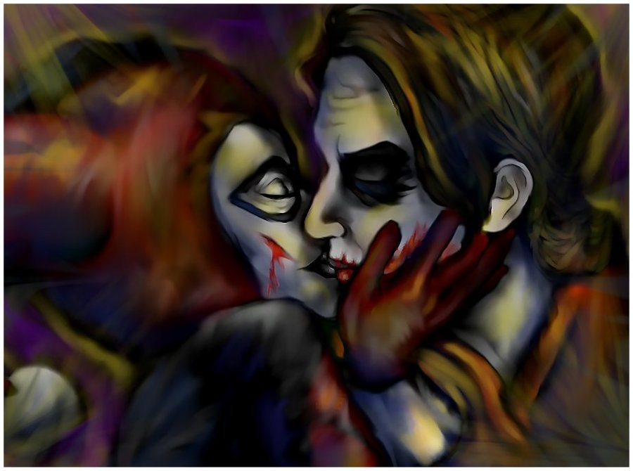 harley quinn and joker kiss - photo #3