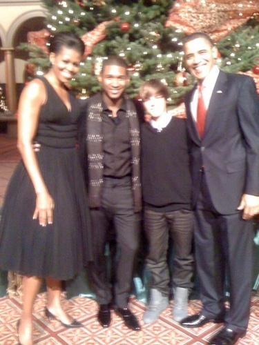 Justin @ the White House W/ Usher 12/13/09