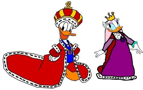 Disney wallpaper probably containing anime entitled King Donald and Queen Daisy