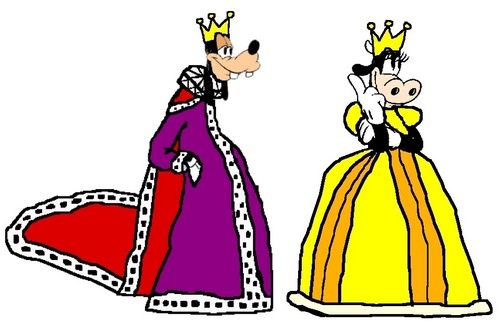 King Goofy and Queen Clarabelle - disney Fan Art