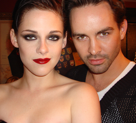 Kristen with make-up artist Beau Nelson