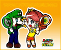 Luigi and Daisy Play Tennis - luigi-and-daisy fan art