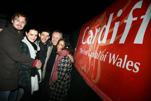 Merlin Cast at Cardiff Christmas Light Switch-On