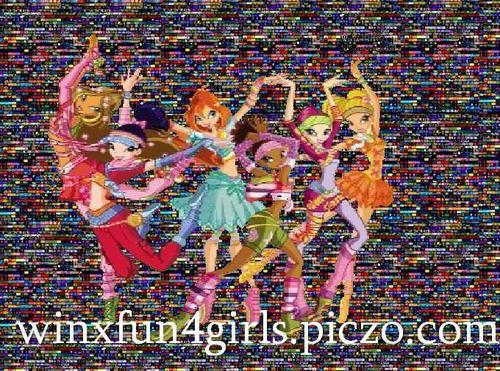 The Winx Gang wallpaper with animê called My(Maisha)'s Winx Artwork