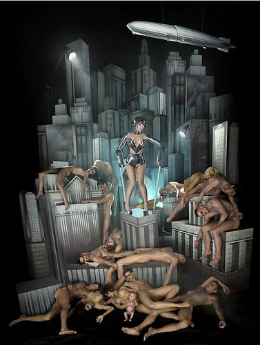 New Lady Gaga fotografias por David LaChapelle
