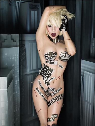 New Lady Gaga foto's door David LaChapelle