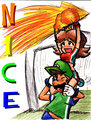 Nice Save - luigi-and-daisy fan art