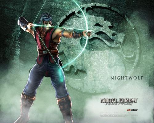 Mortal Kombat kertas dinding entitled Nightwolf