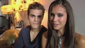 Nylon Photoshoot - Behind the Scenes - paul-wesley-and-nina-dobrev screencap