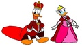 Prince Donald and Princess bunga aster, daisy