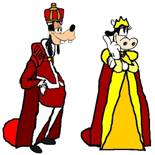 Prince Goofy and Princess Clarabelle
