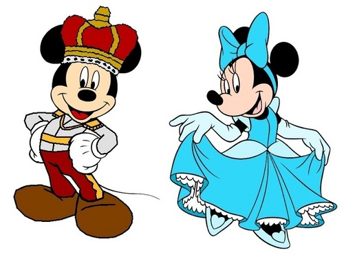 Prince Mickey and Princess Minnie - সিন্ড্রেলা