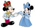 Prince Mickey and Princess Minnie - cinderela