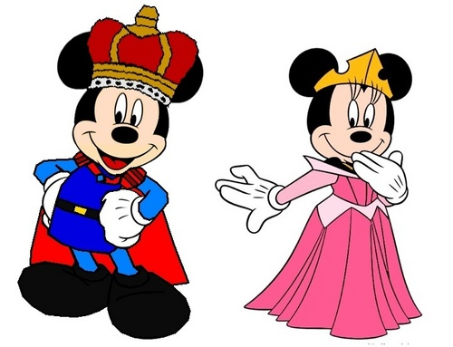 Prince Mickey and Princess Minnie - Sleeping Beauty
