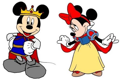 Prince Mickey and Princess Minnie - Snow White