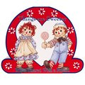 Raggedy Ann And Andy Sharing