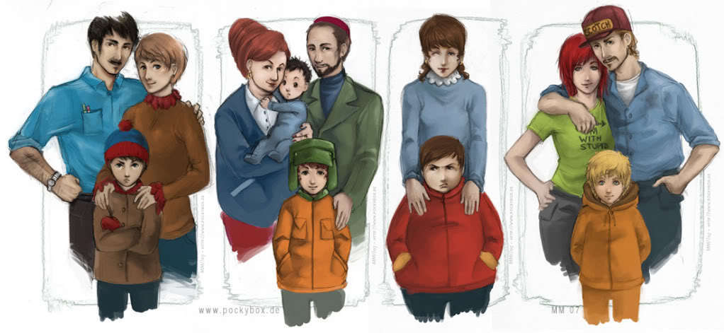 Realistic South Park Families