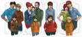 Realistic South Park Families