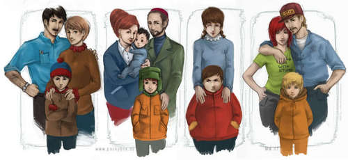 Realistic South Park Families - south-park Photo