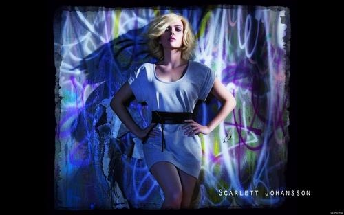 Scarlett Johansson wall