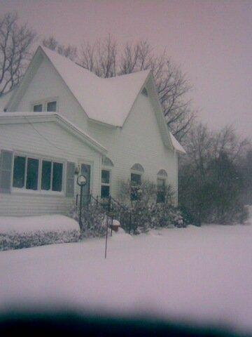 Snow covered house - winter Photo