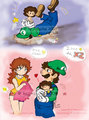 Sweet Bundle of Joy - luigi-and-daisy fan art