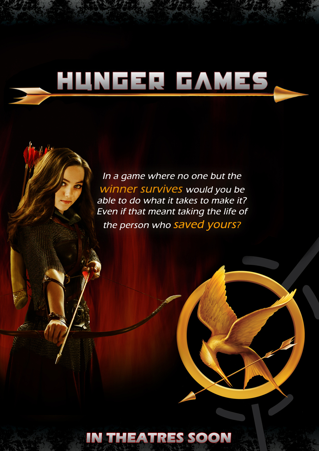 The Hunger Games THG movie poster