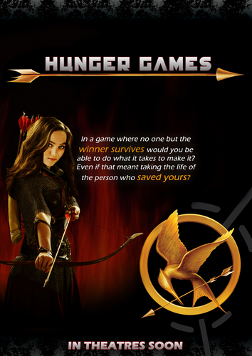 The Hunger Games wallpaper possibly with anime called THG movie poster