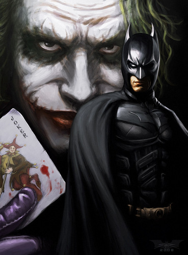 The Joker & Batman - the-dark-knight Fan Art