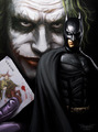 The Joker &amp; Batman - the-dark-knight fan art