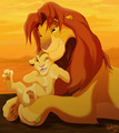 Simba &amp; Kopa - the-lion-king-2-simbas-pride fan art