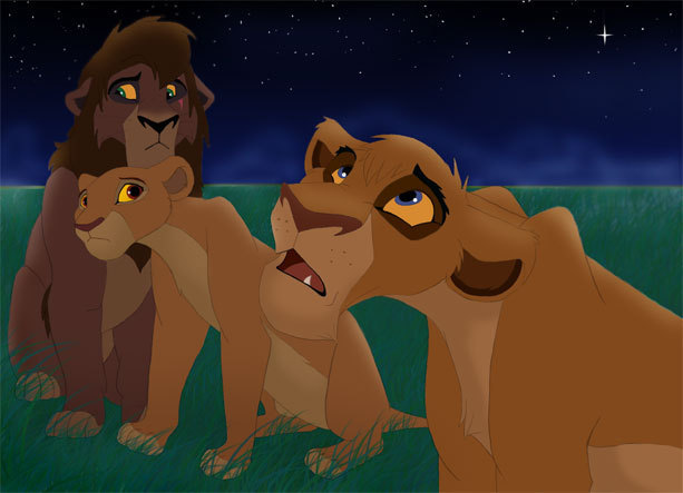 The Lion King 2 Vitani. Kiara, Kovu & Vitani