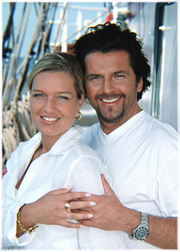 Thomas Anders Hintergrund entitled Thomas & Claudia