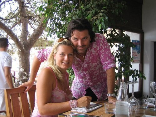 Thomas Anders Hintergrund with a abendessen tabelle called Thomas & Claudia